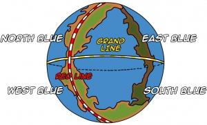 One Piece World Map Fishman Island